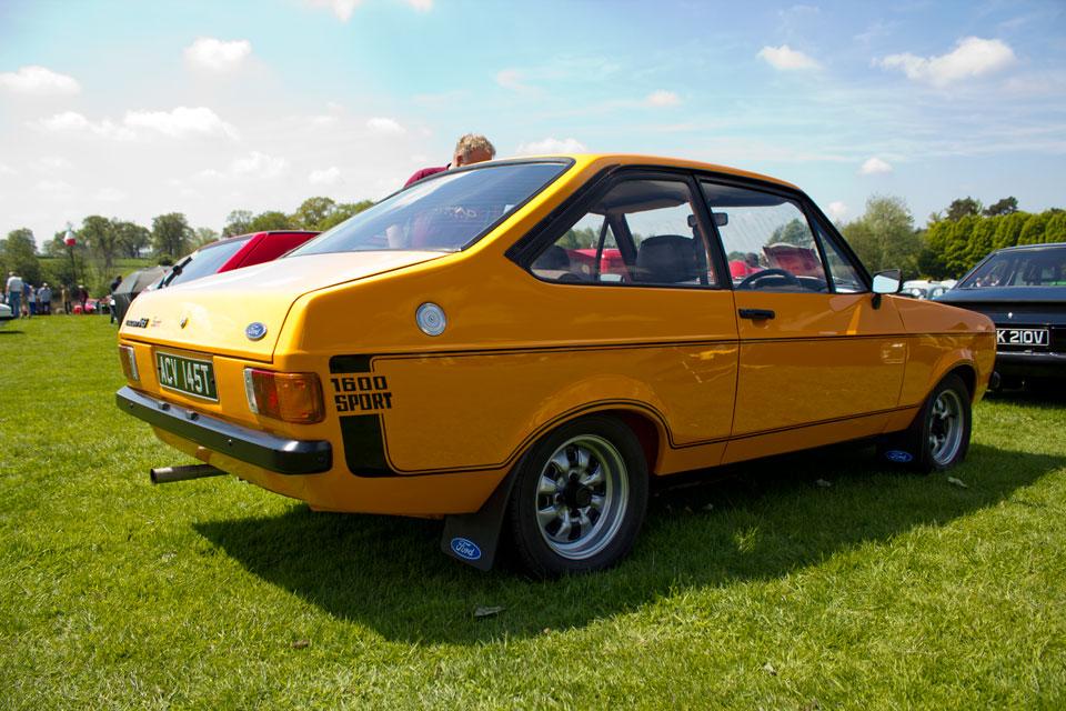 ford escort 1600 sport, capesthorne hall, classic car show