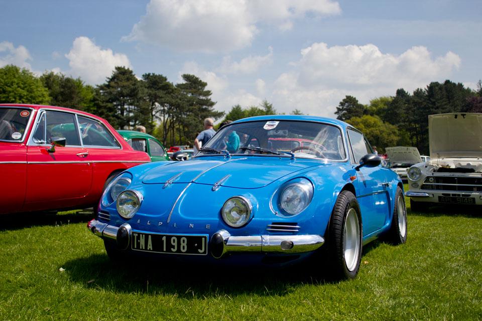 renault alpine, capesthorne hall, classic car show