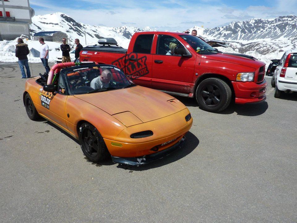 Mazda MX5 in the Alps