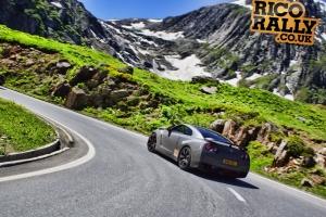 Nissan GTR R35 in the Alps