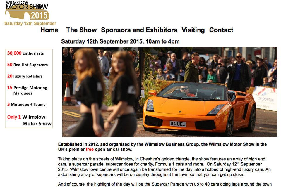 wilmslow motor show 2015