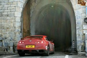 Nissan GTR in the Alps