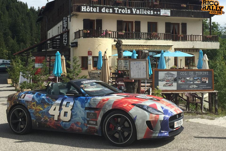 Jaguar F-Type on Col de Turini