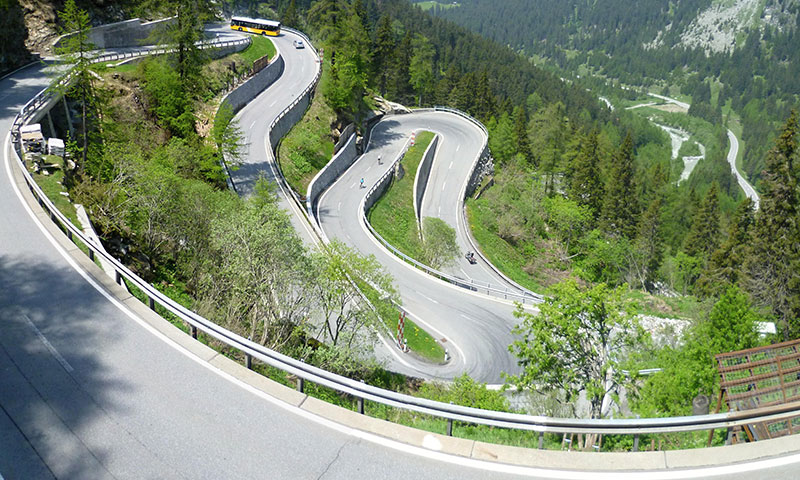 Drive the Maloja Pass in Switzerland