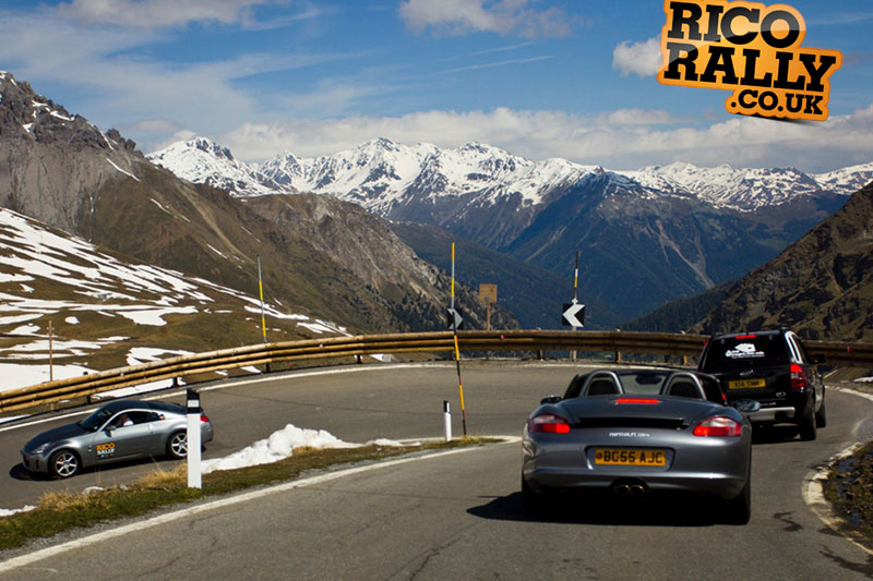 Porsche Boxster in the Alps