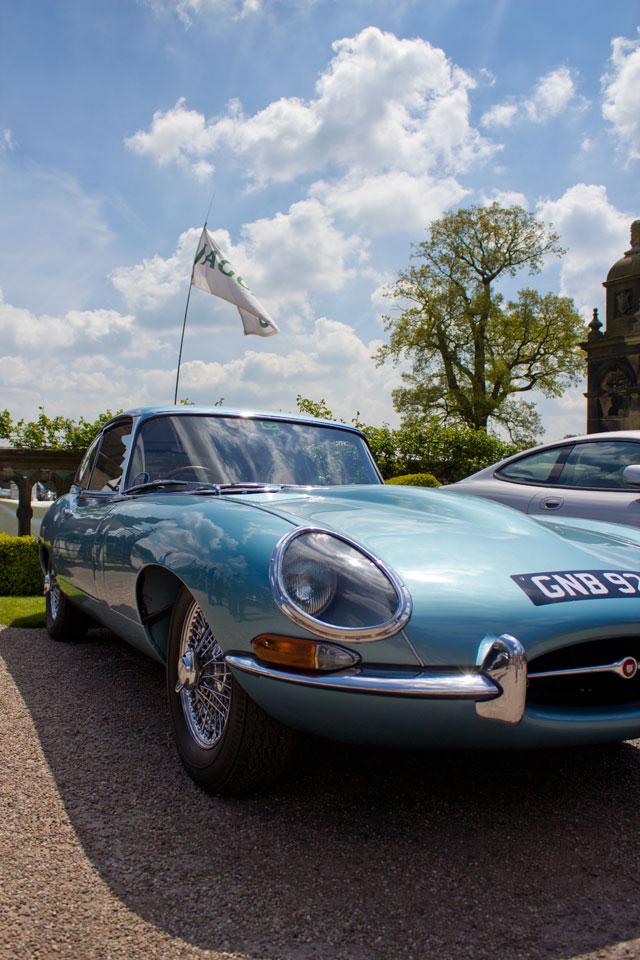 capesthorne hall, classic car show, e-type jag