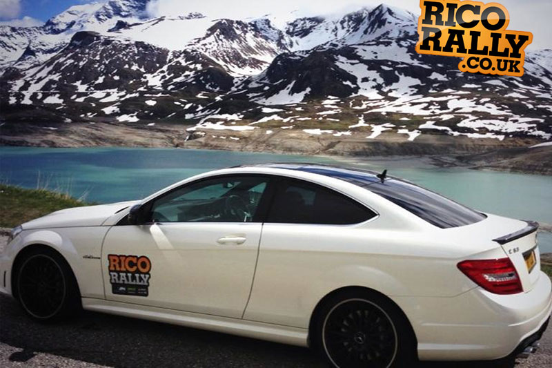 Mercedes C63 in the Alps