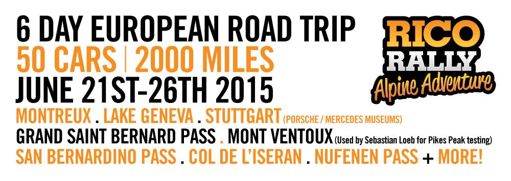 Alpine Adventure European Car Rally