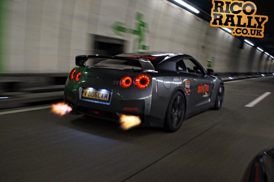 Nissan GTR Flames