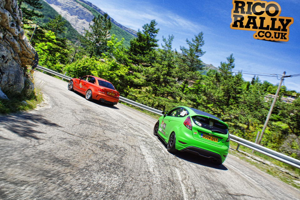 Ford Fiesta ST in the Alps