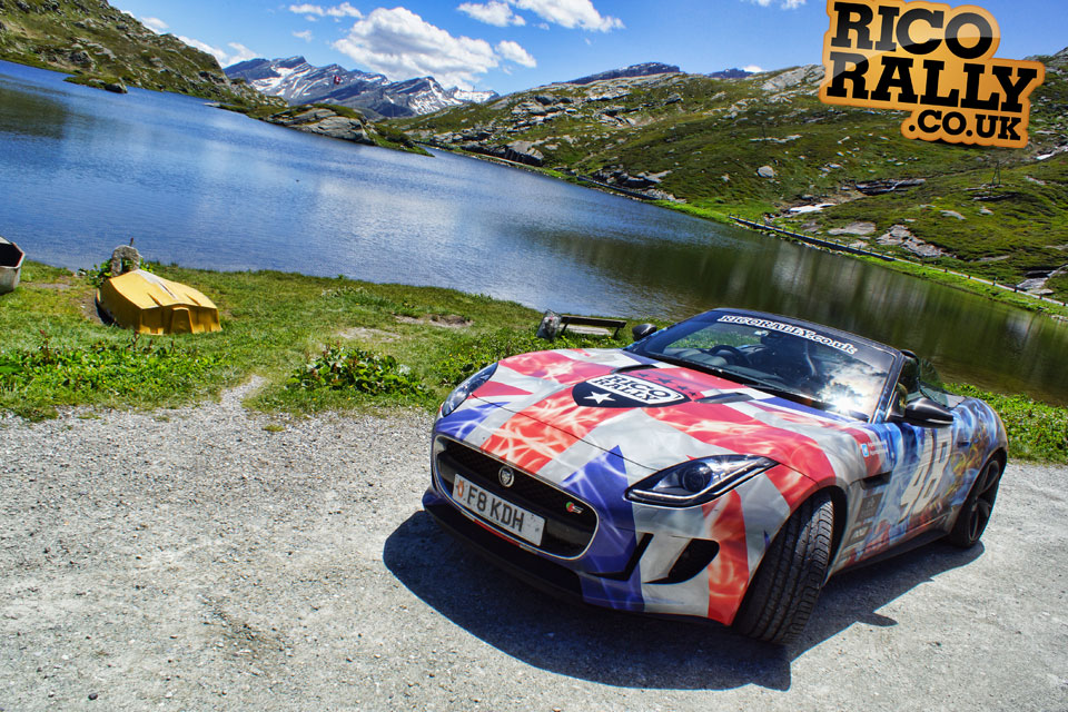 Jaguar F-Type in the Alps