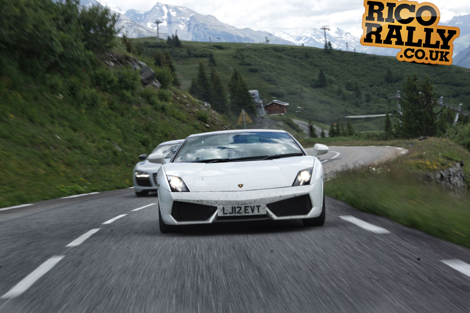 Lamborghini Gallardo in the Alps