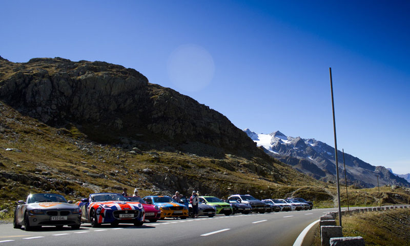bmw z4 in the alps