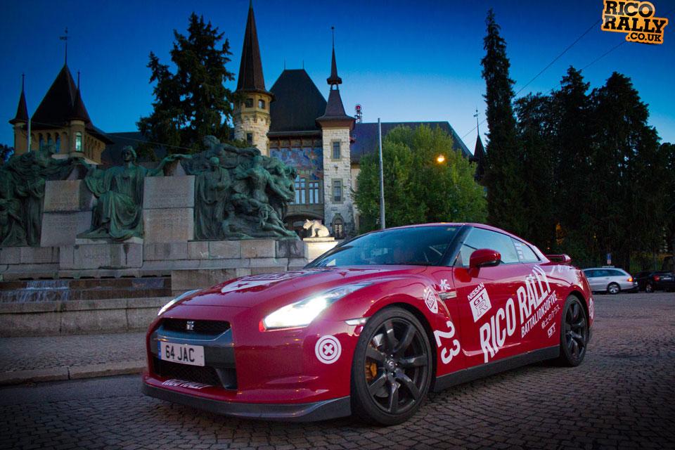 Nissan GTR European Car Rally